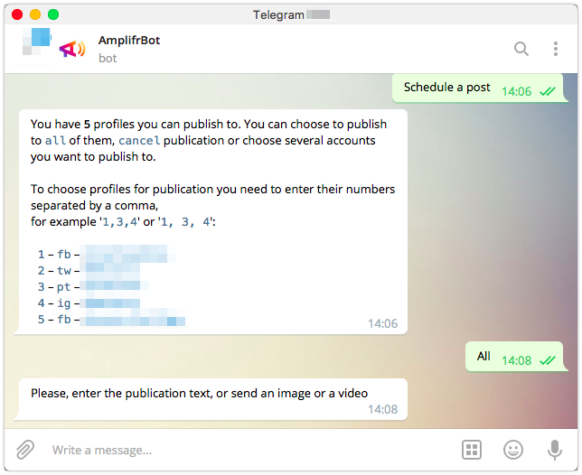 A Guide to Amplifr Bots for Telegram and Facebook Messenger | Amplifr