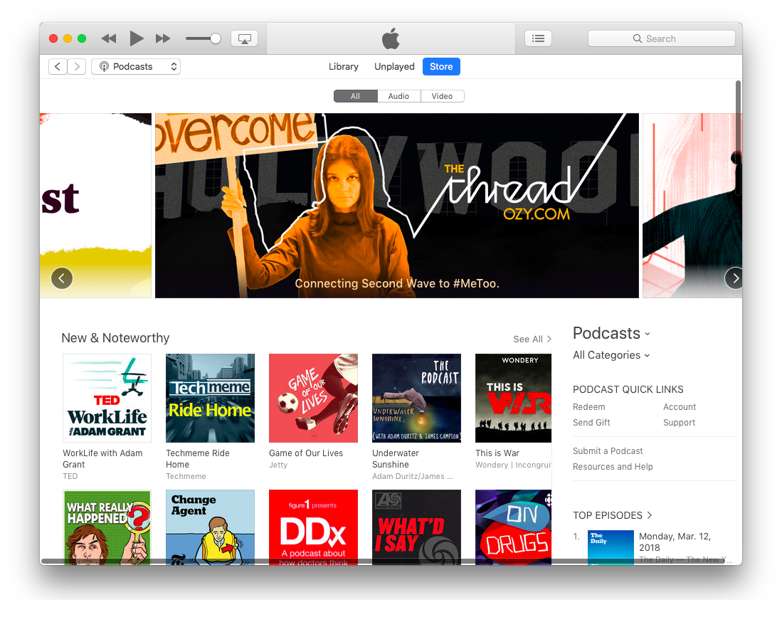 iTunes is one of the main platforms for podcasters.